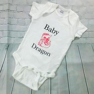 Baby Pink 🐉 Dragon Onesie